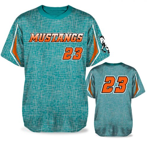 Custom Sublimated Amped Home Turf BB Jersey SS No-Button
