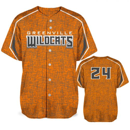 Custom Sublimated Amped Home Turf BB Jersey SS Full-Button