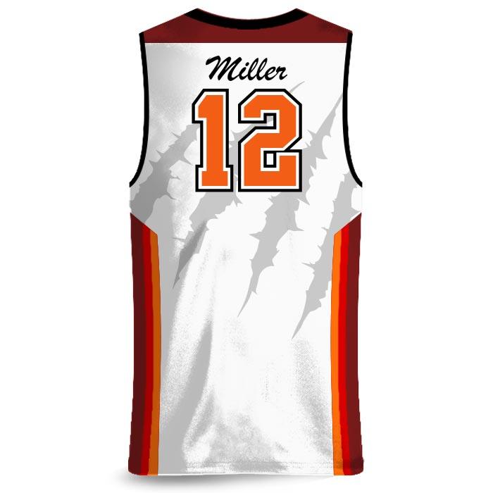 Custom Sublimated Amped Rainbow Shot Basketball Uniform Jersey Back