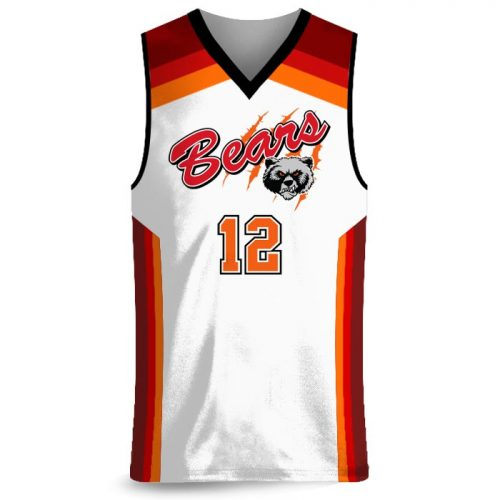 Custom Sublimated Amped Rainbow Shot Basketball Uniform Jersey Front
