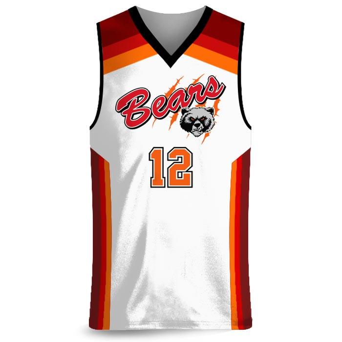 Custom Sublimated Amped Rainbow Shot Basketball Uniform Jersey Front