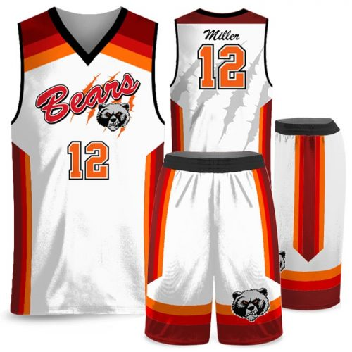 Custom Sublimated Amped Rainbow Shot Basketball Uniform