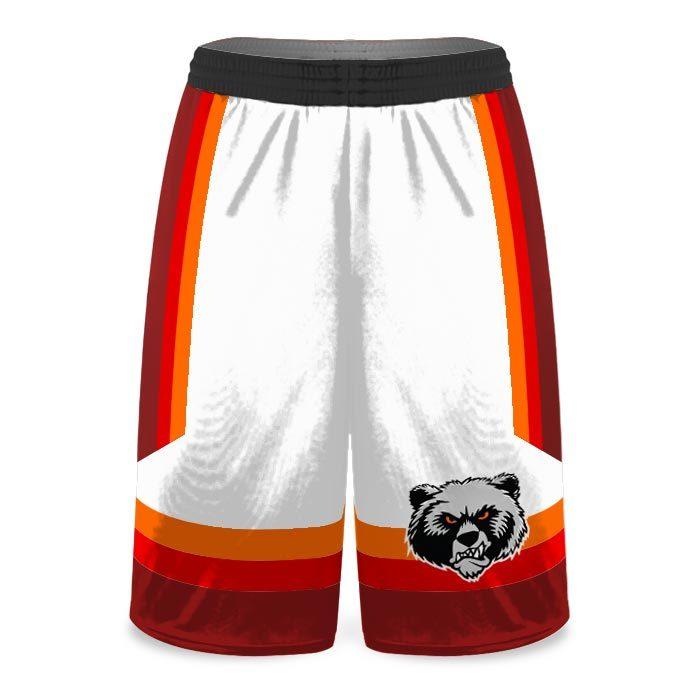 Custom Sublimated Amped Rainbow Shot Basketball Uniform Shorts Front