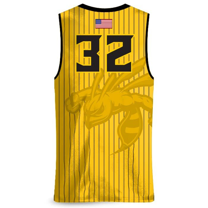 Custom Sublimated Amped Seismic Basketball Uniform Jersey Back