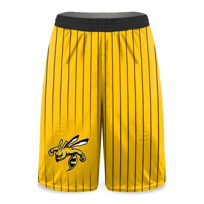Custom Sublimated Amped Seismic Basketball Uniform Shorts Front