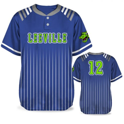 Custom Sublimated Amped Upper Deck BB Jersey SS 2-Button