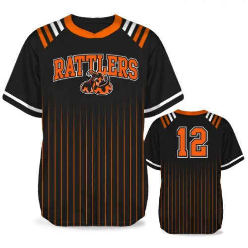 Custom Sublimated Amped Upper Deck BB Jersey SS No-Button