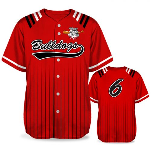 Custom Sublimated Amped Upper Deck BB Jersey SS Full-Button