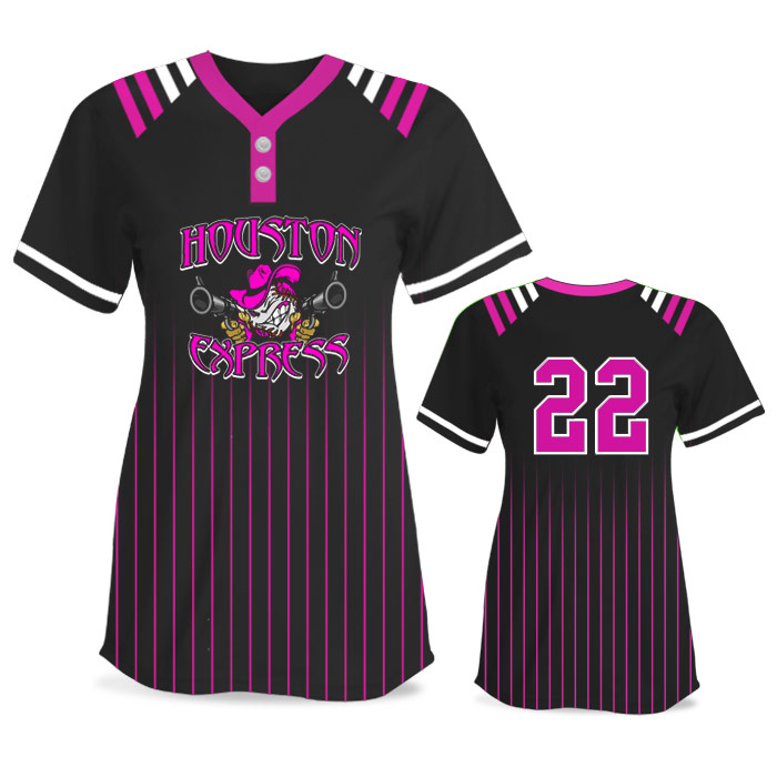 Custom Sublimated Amped Upper Deck FP Jersey SS 2-Button
