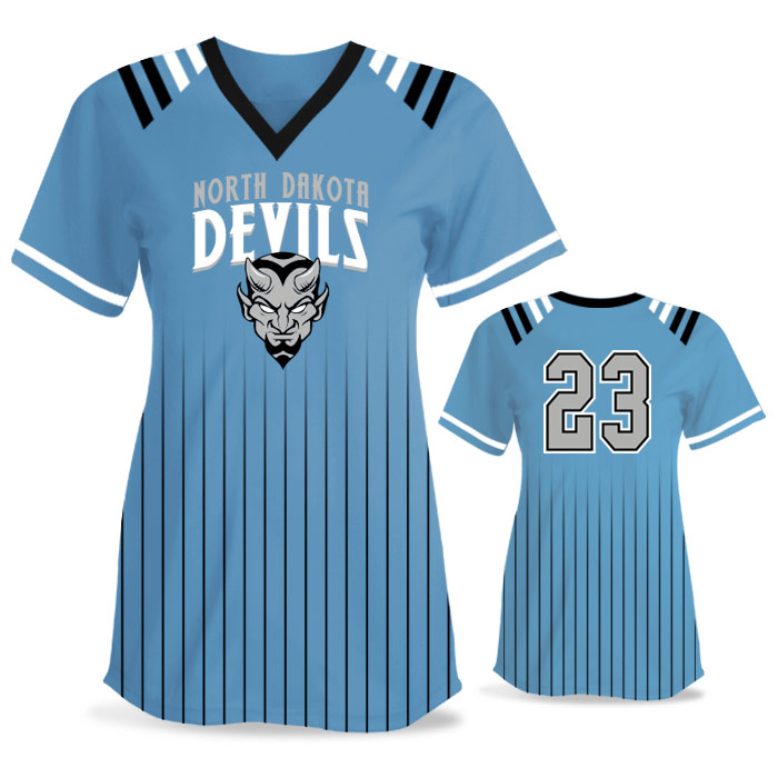 Custom Sublimated Amped Upper Deck FP Jersey SS No-Button