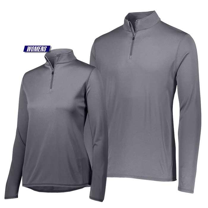 attain quarter zip pullover performance top in dark grey