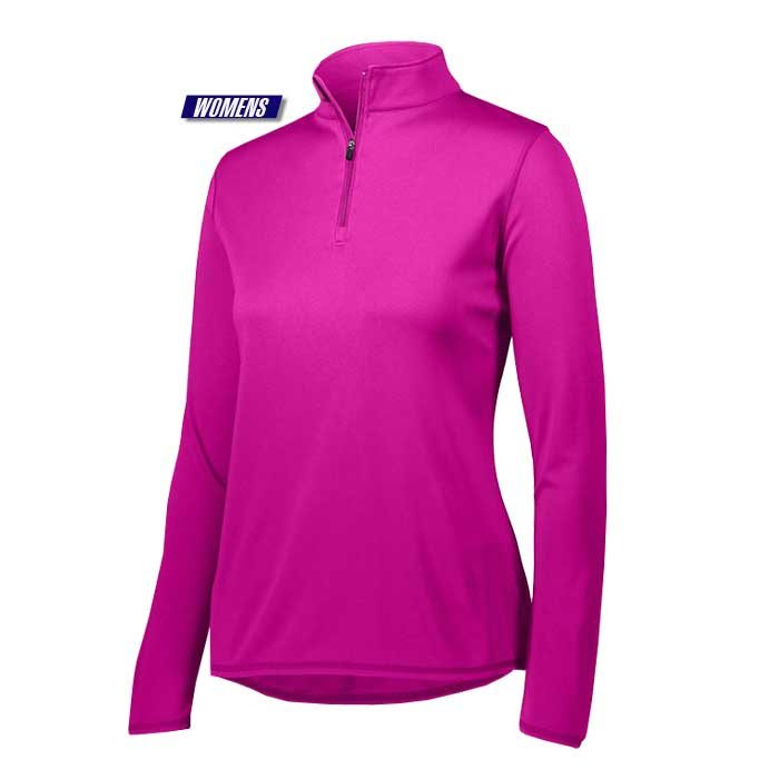 attain quarter zip pullover performance top in pink