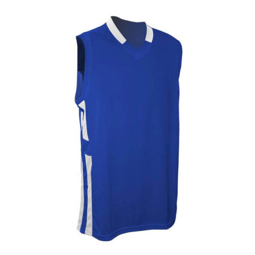 Champro non-reversible basketball jersey royal with white accent