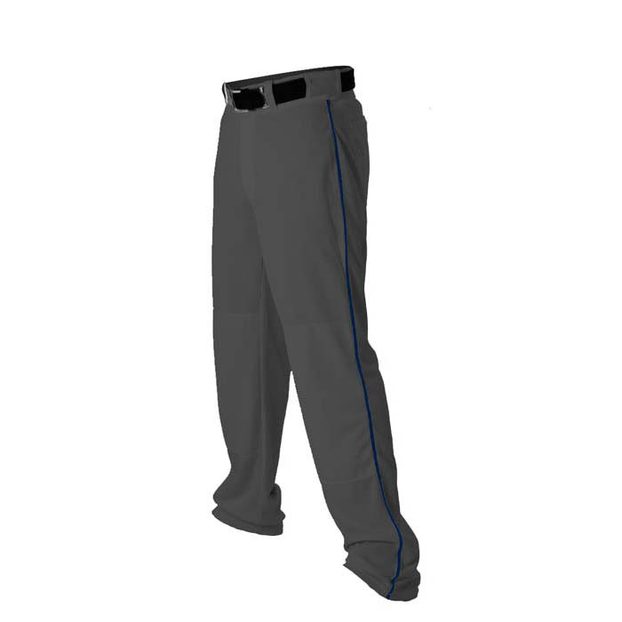 Alleson 14oz baseball pant with piping trim charcoal navy