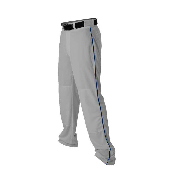 Alleson 14oz baseball pant with piping trim grey navy