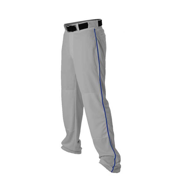 Alleson 14oz baseball pant with piping trim grey royal