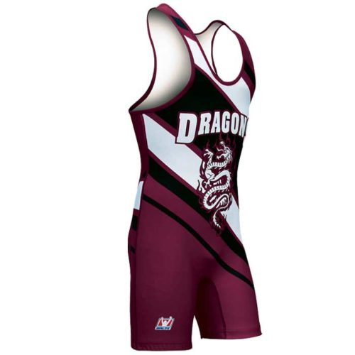 Custom sublimated Brute Dominate singlet for wrestling.