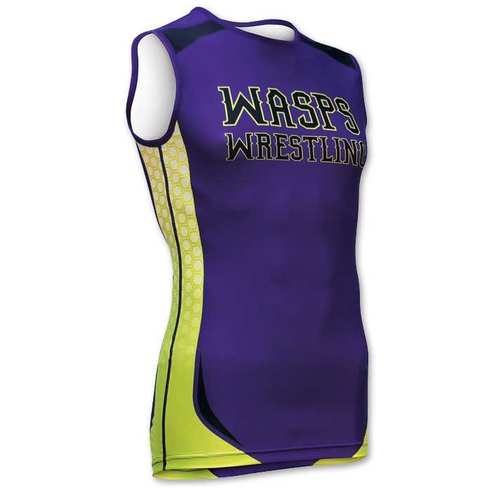 Brute wrestling sleeveless compression fit tech shirt