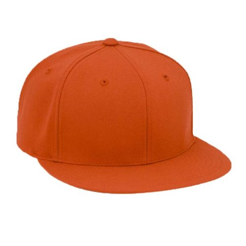 Solid Color, Flat Brim Baseball Cap in Texas Orange