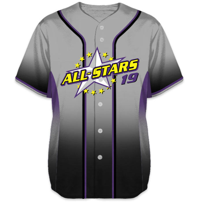 b5e50d71a Charged 5th Element Baseball Jersey - Sublimated Multi-Gradient