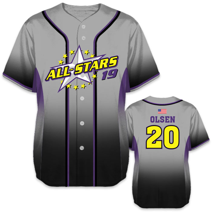 Custom Sublimated Charged 5th Element Baseball Jersey All-Stars