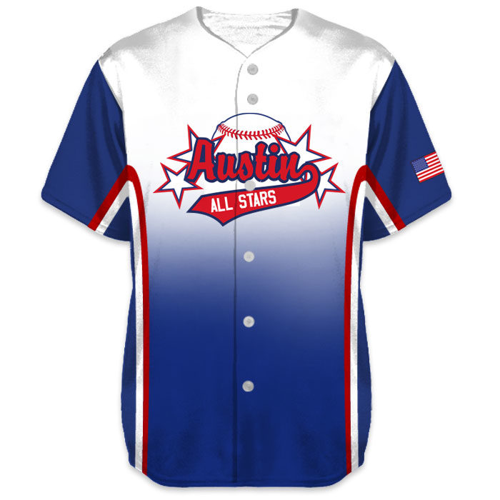 Custom Sublimated Charged Doubleheader Baseball Jersey All-Stars