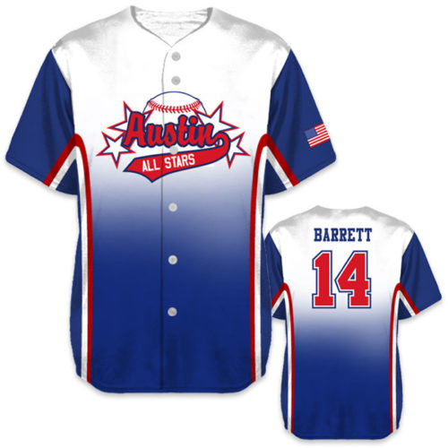 6a3d01093 ... Custom Sublimated Charged Doubleheader Baseball Jersey All-Stars