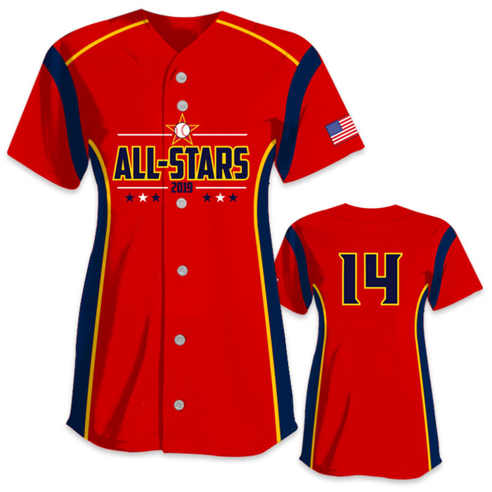 Custom Sublimated Charged Triple Play All-Stars Fastpitch Softball Jersey