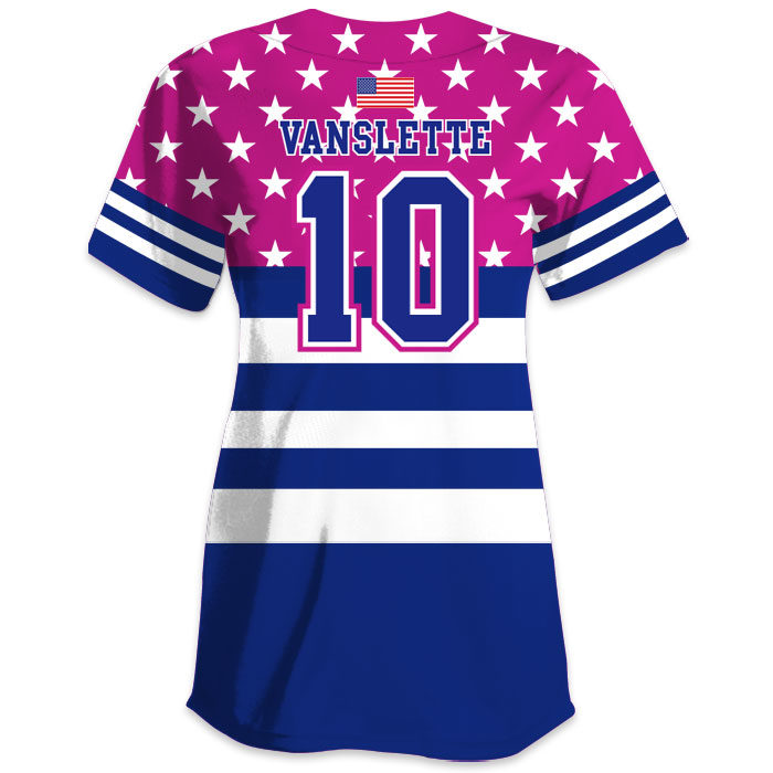 Custom Sublimated Charged United We Stand All-Stars Jersey