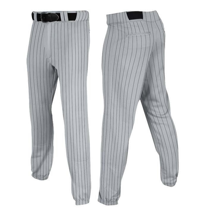 Stock Champro brand Baseball pants in grey black pin stripe