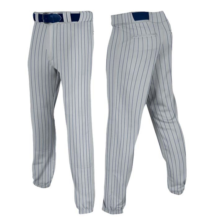 Stock Champro brand Baseball pants in grey navy pin stripe