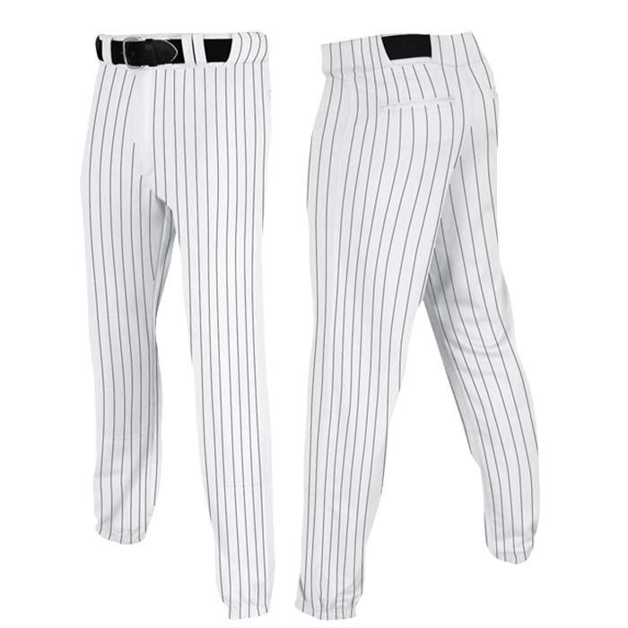 Stock Champro brand Baseball pants in white black pin stripe
