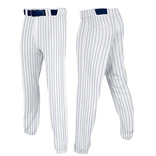 Stock Champro brand Baseball pants in white navy pin stripe