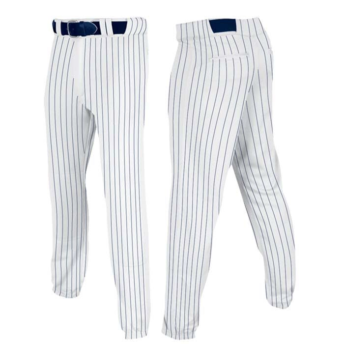 Stock Champro brand Baseball pants in white navy pin stripe