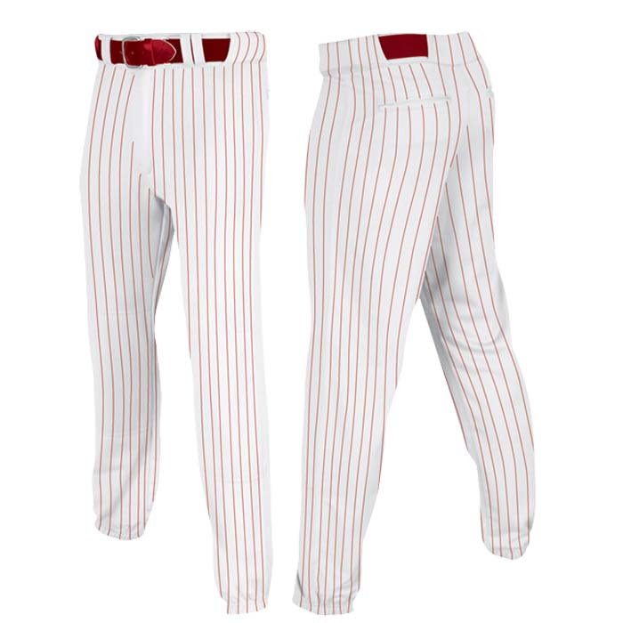 Stock Champro brand Baseball pants in red pin stripe