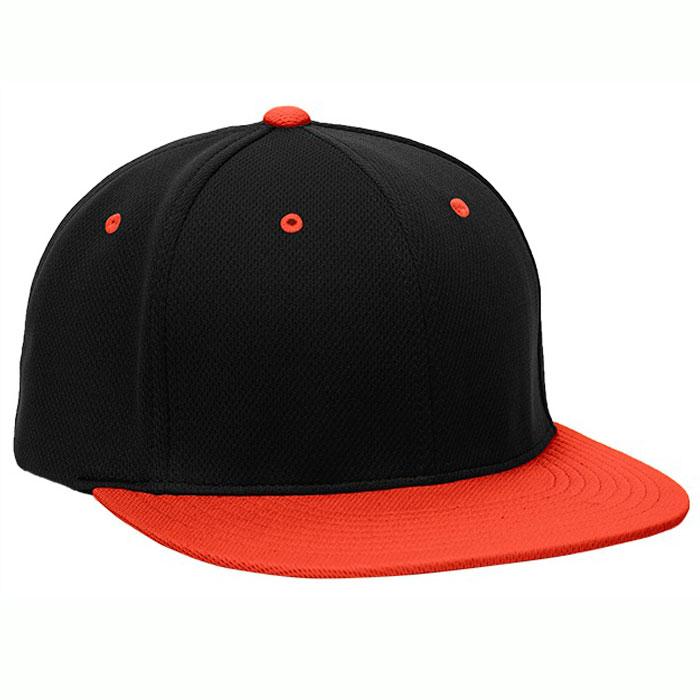 Pacific Headwear ES342 Premium P-Tec Cap in Black and Orange