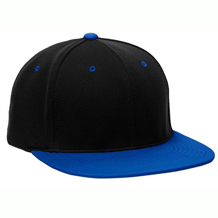Pacific Headwear ES342 Premium P-Tec Cap in Black and Royal Blue
