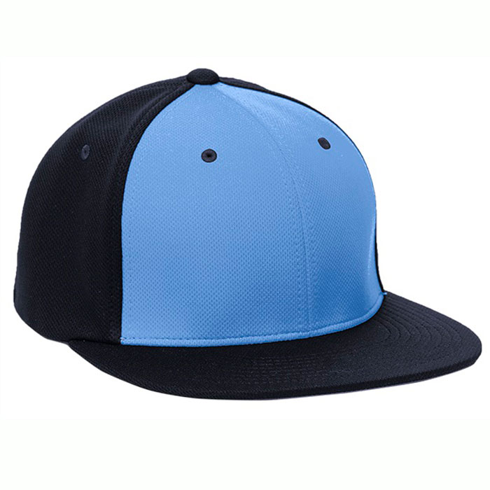 Pacific Headwear ES342 Premium P-Tec Cap in Columbia Blue and Navy Blue