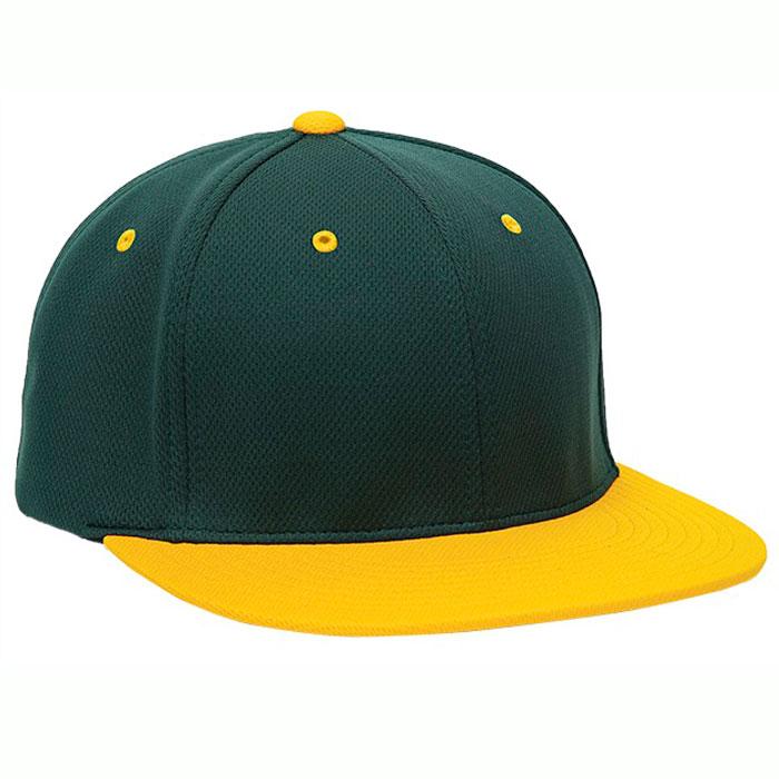 Pacific Headwear ES342 Premium P-Tec Cap in Dark Green and Athletic Gold