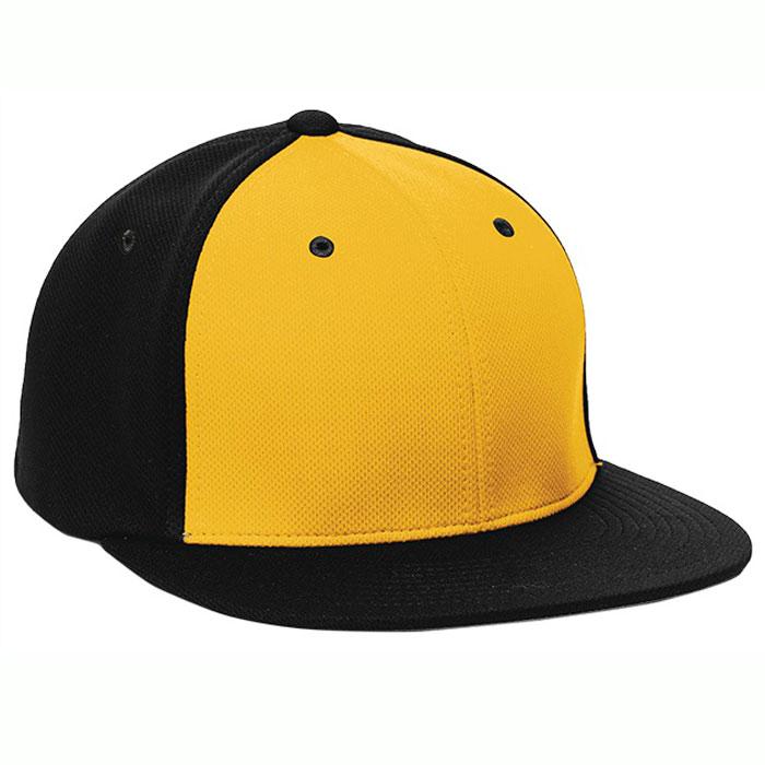 Pacific Headwear ES342 Premium P-Tec Cap in Athletic Gold and Black