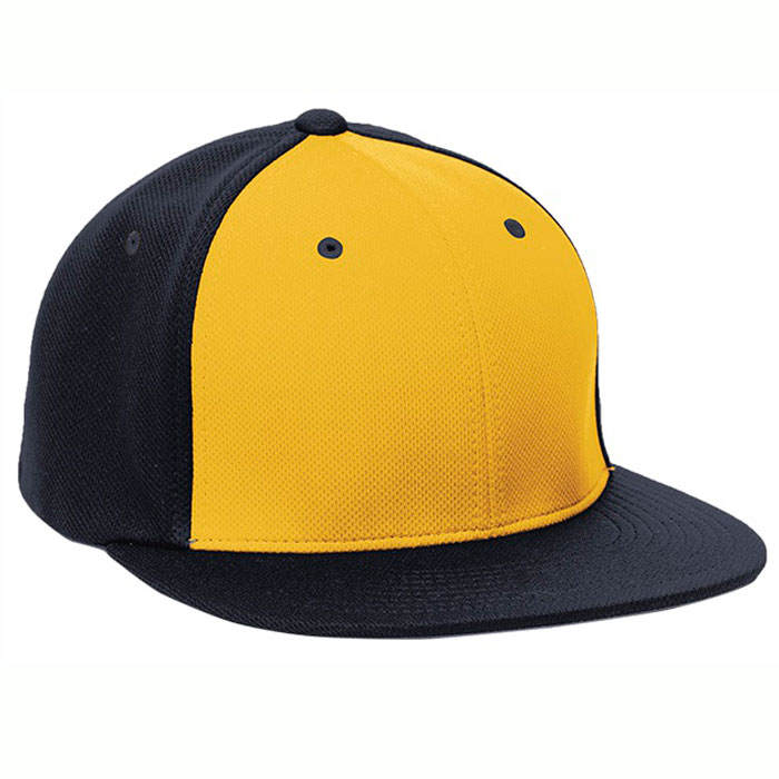Pacific Headwear ES342 Premium P-Tec Cap in Athletic Gold and Navy Blue