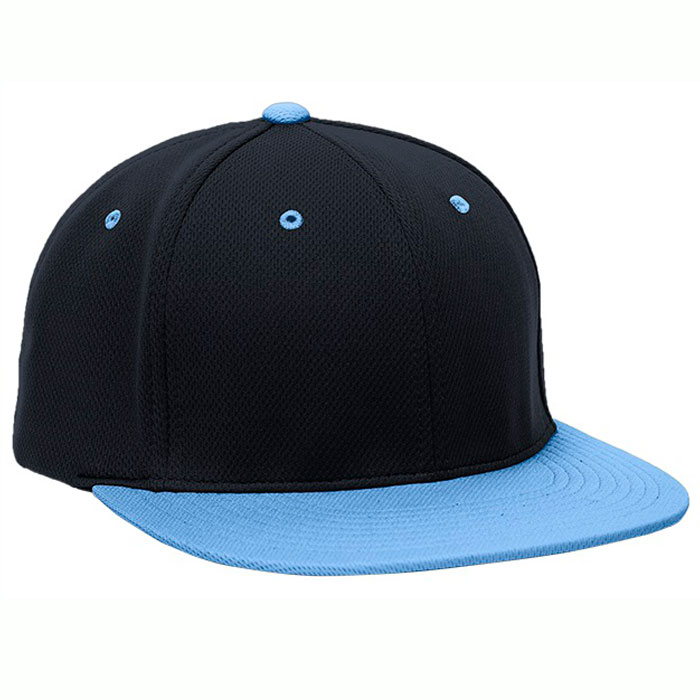 Pacific Headwear ES342 Premium P-Tec Cap in Navy Blue and Columbia Blue