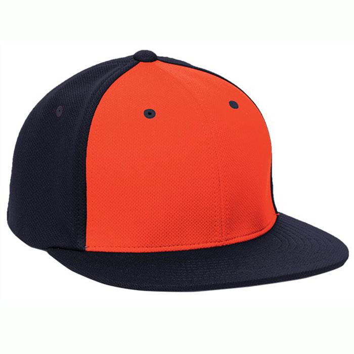 Pacific Headwear ES342 Premium P-Tec Cap in Orange and Navy Blue