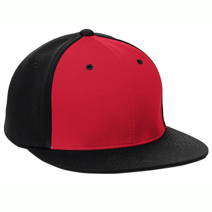 Pacific Headwear ES342 Premium P-Tec Cap in Red and Black