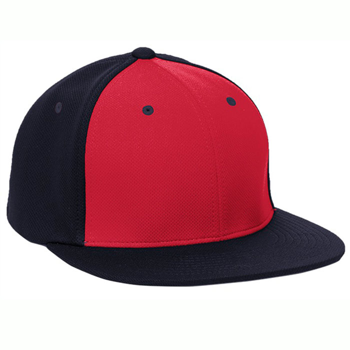 Pacific Headwear ES342 Premium P-Tec Cap in Red and Navy Blue