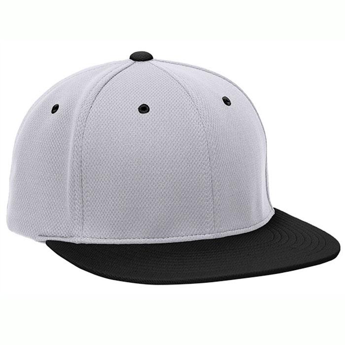 Pacific Headwear ES342 Premium P-Tec Cap in Silver and Black