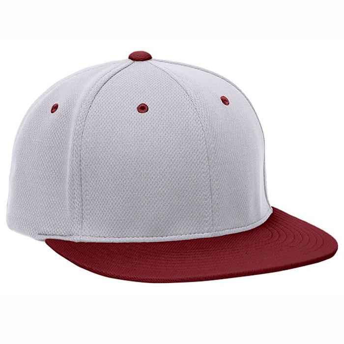 Pacific Headwear ES342 Premium P-Tec Cap in Silver and Maroon