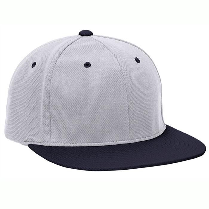 Pacific Headwear ES342 Premium P-Tec Cap in Silver and Navy Blue