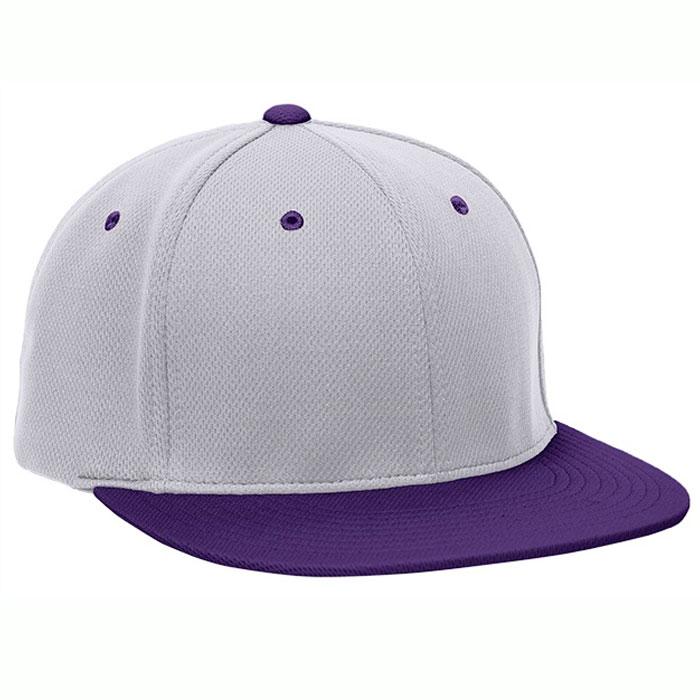 Pacific Headwear ES342 Premium P-Tec Cap in Silver and Purple