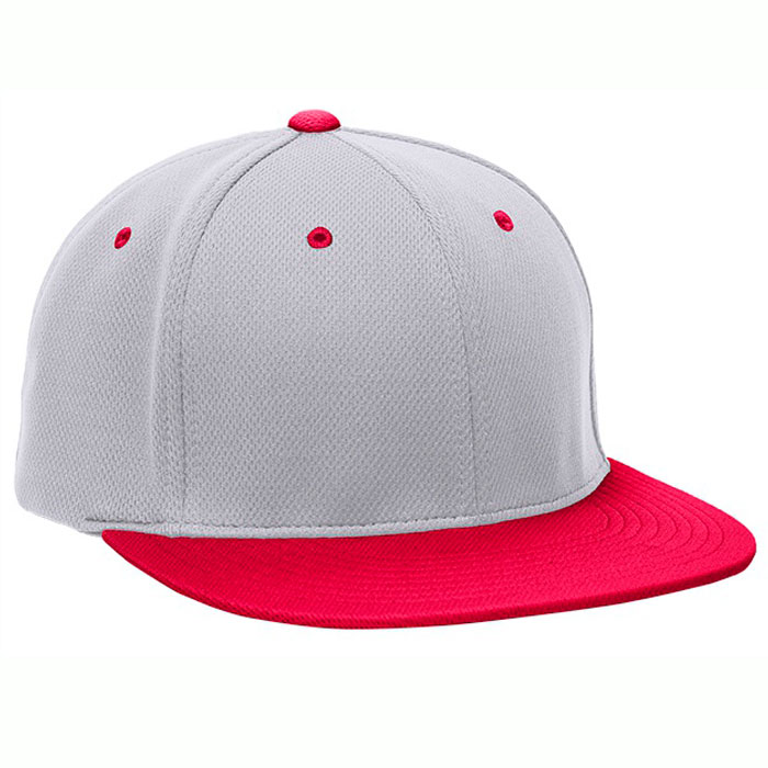 Pacific Headwear ES342 Premium P-Tec Cap in Silver and Red